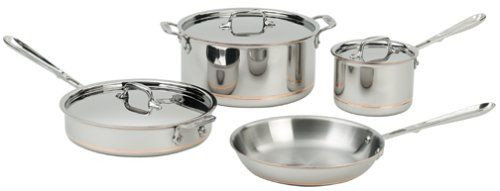 All Clad Copper Core 7 Piece Cookware Set