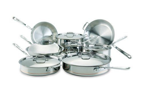 All Clad Copper Core 14 Piece Cookware Set