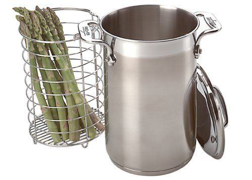 All Clad Specialty Cookware Asparagus Pot with Insert