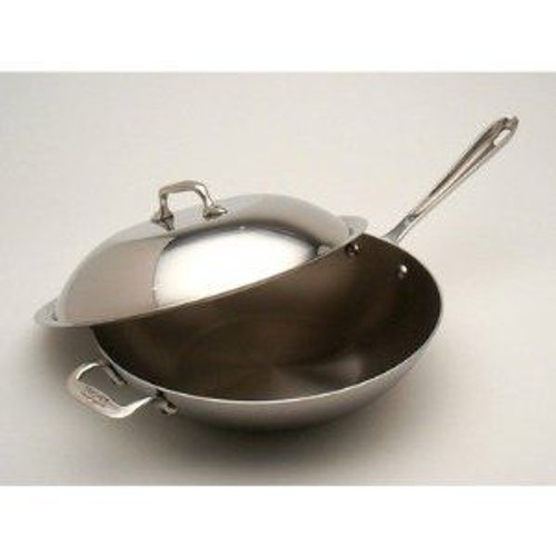 All Clad Stainless 12 Inch Chef's Pan with Lid