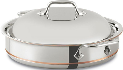 All Clad Copper-Core 5-Ply 3 Qt. Sauteuse with Dome Lid