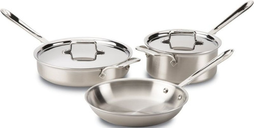 All Clad d5 Brushed Stainless 5-Ply 5-Piece Cookware Set