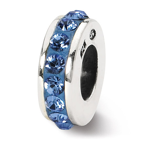 September Single Row Swarovski Elements Bead - Sterling Silver QRS1264SEPT