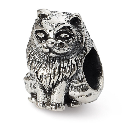 Birman Cat Bead - Sterling Silver QRS1272