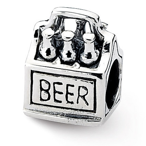 6-pack Beer Bead - Sterling Silver QRS1903