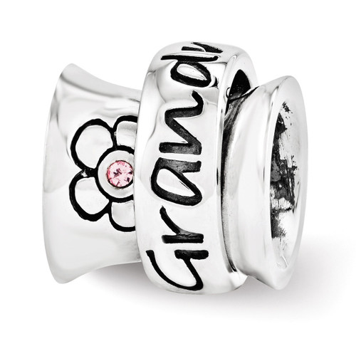 Swarovski Grandmother Spinner Bead - Sterling Silver QRS3411