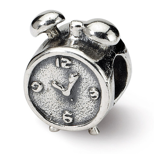 Alarm Clock Bead - Sterling Silver QRS345