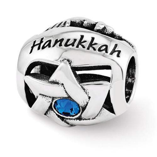 Swarovski Happy Hanukkah Bead - Sterling Silver QRS3464