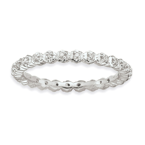 Diamond Ring - Sterling Silver QSK349 UPC: 886774000473
