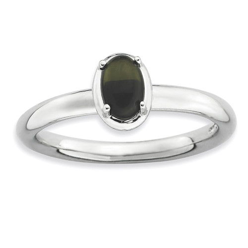 Onyx Polished Ring - Sterling Silver QSK902 UPC: 886774229157