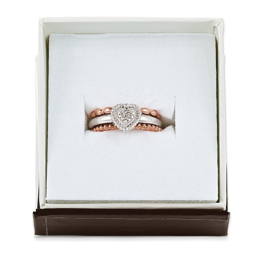 Take My Heart Ring Set - Sterling Silver QSKSET2