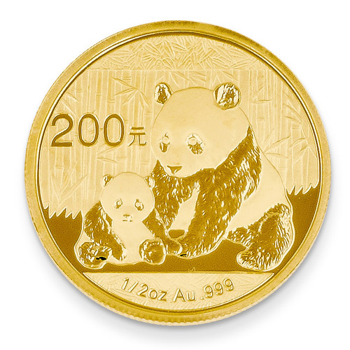 24k Gold 1/2oz Panda Coin 1/2P