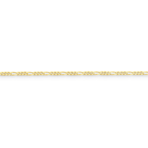 2.2mm Figaro LINK Chain 16 Inch 10k Gold 10FG065-16