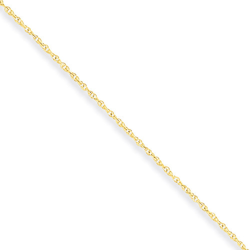 0.8mm Lite-Baby Rope Chain 14 Inch 10k Gold 10KPE3-14