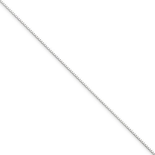 0.5mm Box Chain 16 Inch 10k White Gold 10KWB040-16
