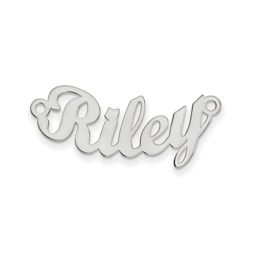 0.013 Gauge Poslished Curved Nameplate 10k White Gold 10XNA75W