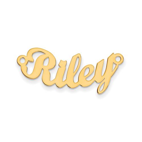 0.013 Gauge Polished Curved Nameplate 10k Gold 10XNA75Y