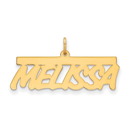 0.013 Gauge Polished Nameplate 10k Gold 10XNA78Y