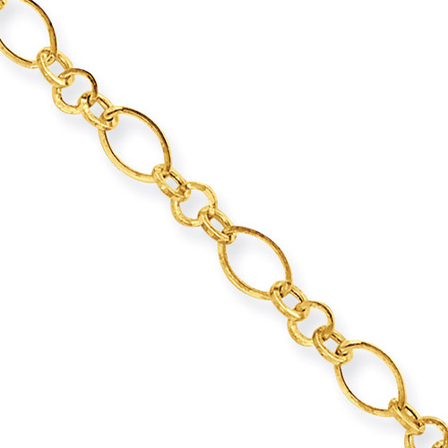 9in with 1in ext Anklet 10 Inch 14k Gold ANK221-10