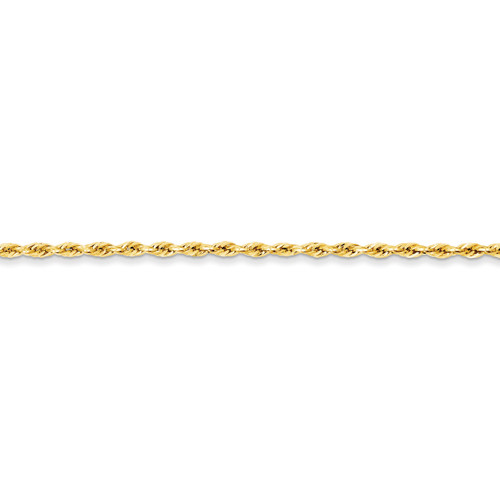2.9mm Hollow Rope Chain 16 Inch 14k Gold BC134-16