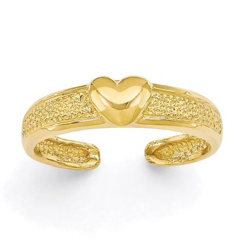 Heart Toe Ring 14k Gold C2071