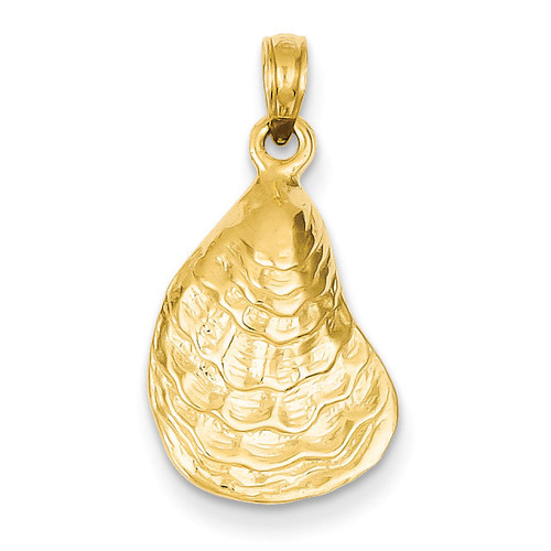 Oyster Shell Pendant 14k Gold C3384