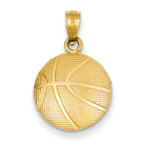 Basketball Pendant 14k Gold C3774