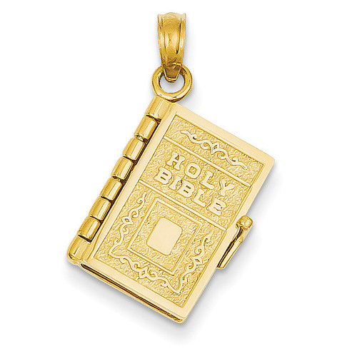 Lord's Prayer Bible Pendant 14k Gold C3964