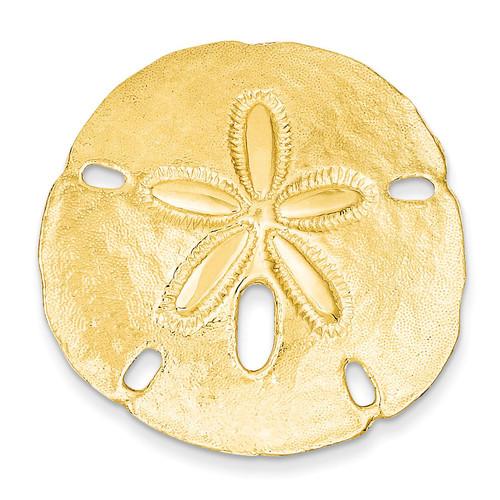 Fits up to 10mm & 8mm Medium Sand dollar Slide 14k Gold Polished D1004