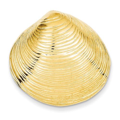 Clam Shell Slide 14k Gold D2863