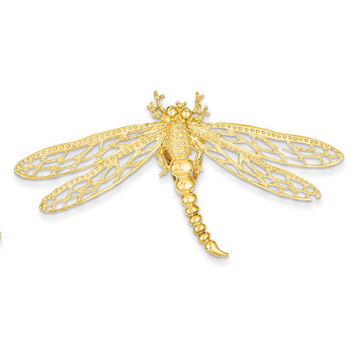 Cut-out Dragonfly Slide 14k Gold D2882