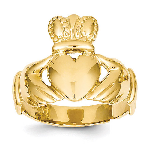 Men's Claddagh Ring 14k Gold D3113