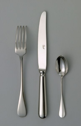 Chambly Baguette Dessert Place Spoon - Silver Plated