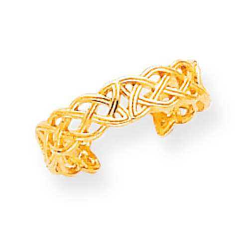Celtic Knot Toe Ring 14k Gold D961