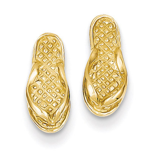Flip Flop Earrings 14k Gold E904