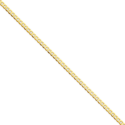 2.4mm Beveled Curb Chain 24 Inch 14k Gold FBU080-24
