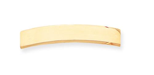 47 x 8.5 x 1.25mm ID Plate 14k Gold ID2