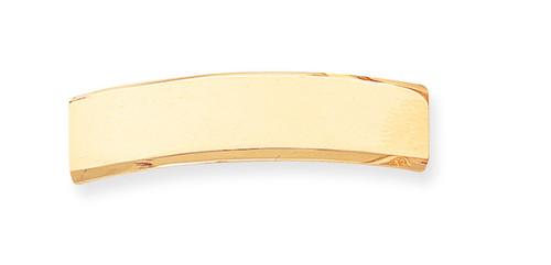 48 x 12 x 1.8mm ID Plate 14k Gold ID4