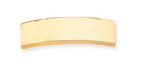 48 x 14 x 2mm ID Plate 14k Gold ID5