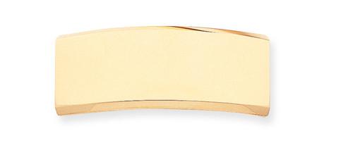 48 x 18.3 x 2.1mm ID Plate 14k Gold ID7