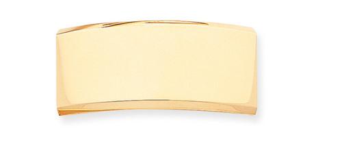 48 x 21 x 2.3mm ID Plate 14k Gold ID8