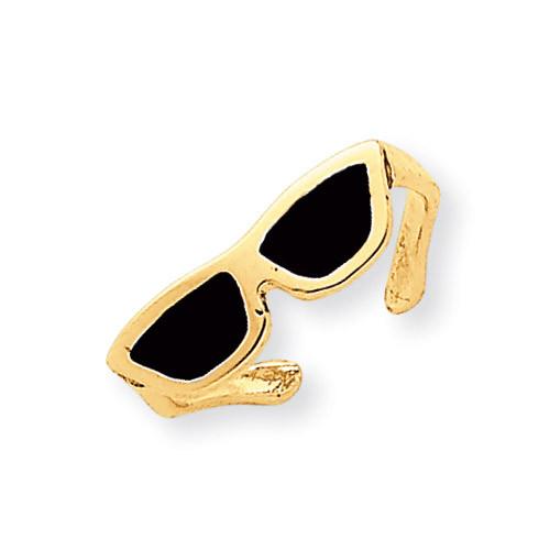 Enameled Sunglasses Toe Ring 14k Gold K2036