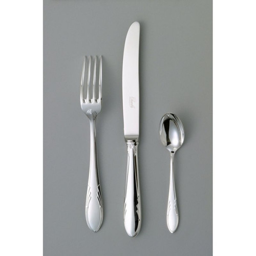 Chambly Art Deco Fish Cold Meat Serving Fork - Silver Plated