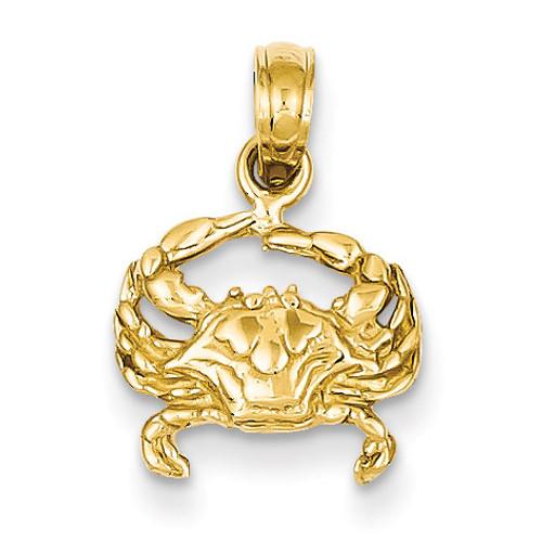 Crab Pendant 14k Gold K2990
