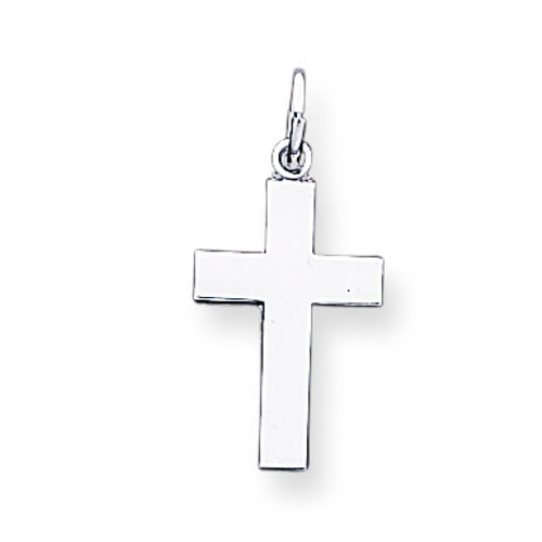 Cross Pendant 14k White Gold K360