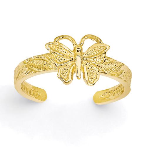 Butterfly Toe Ring 14k Gold K3830