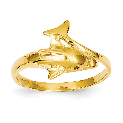 Dolphin Ring 14k Gold K3921