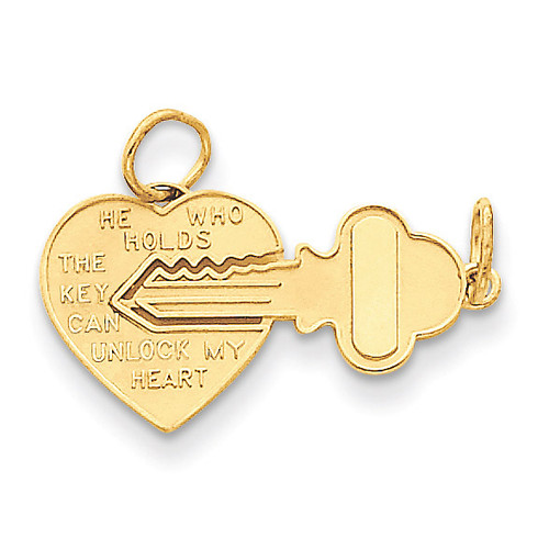 Heart Charm 14k Gold M199