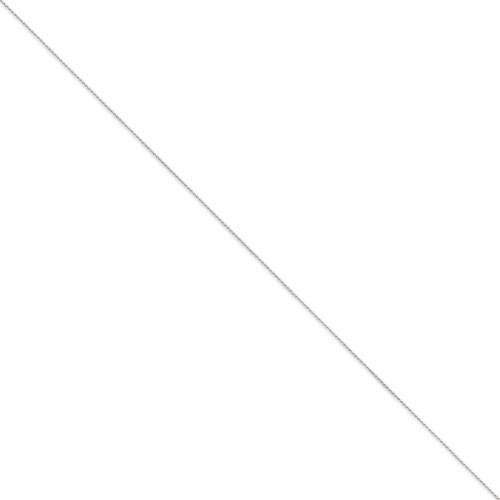 0.65mm Diamond-cut Spiga Pendant Chain 20 Inch 14k White Gold PEN153-20