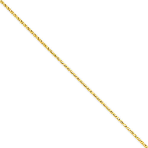 1.75mm Round Parisian Wheat Chain 20 Inch 14k Gold PEN56-20